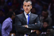 Head Coach Billy Donovan of the Oklahoma City Thunder watches play during a 127-117 Thunder win over the LA Clippers at Staples Center on January 4, 2018 in Los Angeles, California.