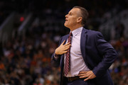 Head coach Billy Donovan of the Oklahoma City Thunder during the second half of the NBA game against the Phoenix Suns at Talking Stick Resort Arena on March 3, 2017 in Phoenix, Arizona. The Suns defeated the Thunder 118-111. NOTE TO USER: User expressly acknowledges and agrees that, by downloading and or using this photograph, User is consenting to the terms and conditions of the Getty Images License Agreement.