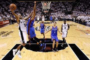 Russell Westbrook Tony Parker Oklahoma City Thunder v San Antonio Spurs - Game Five