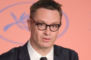 """Nicolas Winding Refn attends the """"Too Old To Die Young"""" press conference during the 72nd annual Cannes Film Festival on May 18, 2019 in Cannes, France."""