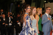 """(L-R) Taylor Hill, Lola Winding Refn, Liv Corfiven and Nicolas Winding Refn attend the screening of """"Too Old To Die Young"""" during the 72nd annual Cannes Film Festival on May 17, 2019 in Cannes, France."""