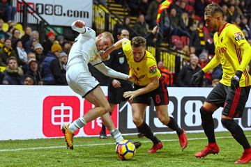 Oliver McBurnie Watford v Swansea City - Premier League