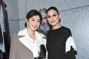Stephanie Song and Olivia Palermo attend the Olivia Palermo Collection presentation during New York Fashion Week: The Shows on February 12, 2020 in New York City.