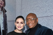Olivia Palermo and Andre Davis attend the Olivia Palermo Collection presentation during New York Fashion Week: The Shows on February 12, 2020 in New York City.