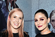 Alice Fern and Olivia Palermo pose at the Olivia Palermo Collection presentation during New York Fashion Week: The Shows on February 12, 2020 in New York City.