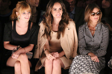 Olivia Palermo Louise Roe TRESemme at Rebecca Minkoff Mercedes-Benz Fashion Week Spring 2014 - Backstage and Front Row
