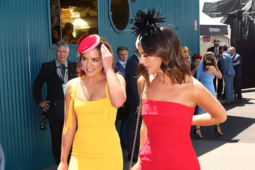 Olympia Valance Celebrities Attend Oaks Day