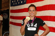 Rebecca Soni visits the USA House at the Royal College of Art on August 4, 2012 in London, England.