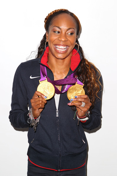 Us olympic athlete medalists visit usa house zimbio for Anne gellert