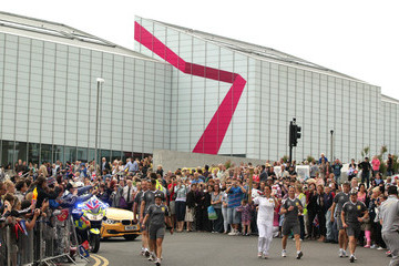 Karen Pickering The Olympic Flame Continues Its Journey Around The UK