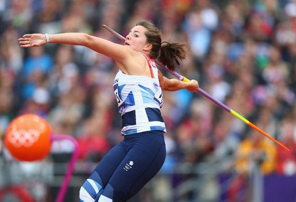 Goldie Sayers of Great Britain competes in the Women's Javelin Throw