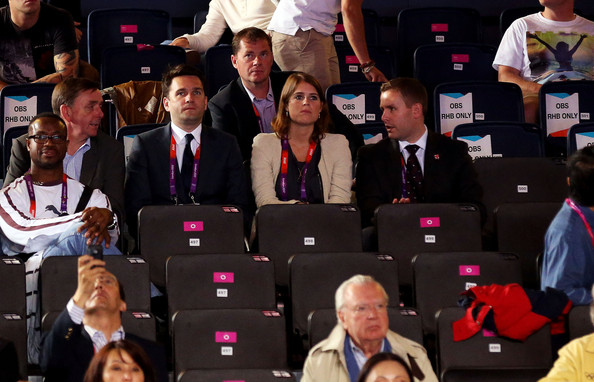 Princess Beatrice of York poses looks on during the Boxing on Day 5 of the London 2012 Olympic Games at ExCeL on August 1, 2012 in London, England.