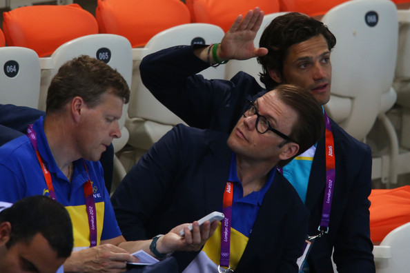 Prince Daniel of Sweden attends the evening session on Day 5 of the London 2012 Olympic Games at the Aquatics Centre on August 1, 2012 in London, England.