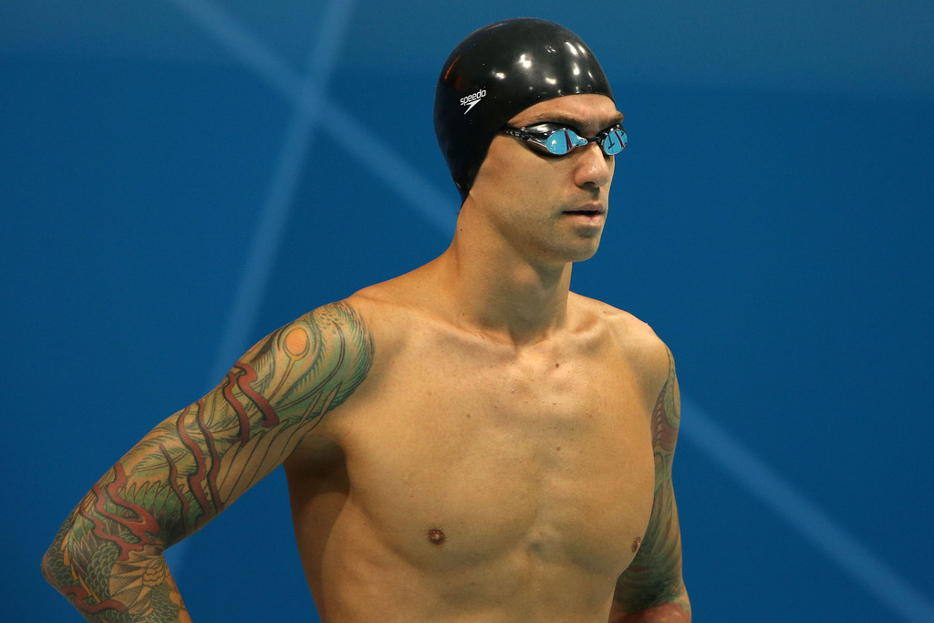 Anthony ervin olympic ink athletes with tattoos zimbio for Swimming after a tattoo