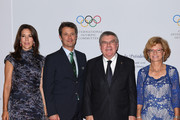 I.O.C President Thomas Bach (3rdL) and his wife pose with Princess Mary of Denmark (L) and Prince Frederik of Denmark (2ndL) as they arrive to attend the President's dinner at the Windsor convention centre on August 4, 2016 in Rio de Janeiro, Brazil.