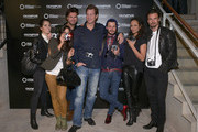 "(l-r) Linda Zervakis, Fernanda Brandao, Andre Borchers, Thomas Heinze, Manuel Cortez, Milka Loff Fernandes and Stephan Luca attend opening of ""Olympus OM-D: Photography Playground"" on March 6, 2014 in Hamburg, Germany."