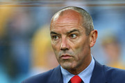 Oman head coach Paul Le Guen looks on during the 2015 Asian Cup match between Oman and Australia at ANZ Stadium on January 13, 2015 in Sydney, Australia.