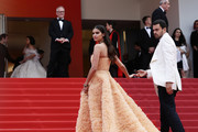 """Sara Sampaio and Oliver Ripley attend the screening of """"Once Upon A Time In Hollywood"""" during the 72nd annual Cannes Film Festival on May 21, 2019 in Cannes, France."""