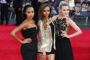 (L to R) Leigh-Anne Pinnock, Jade Thirlwall and Perrie Edwards of Little Mix attend the World Premiere of 'One Direction: This Is Us' at Empire Leicester Square on August 20, 2013 in London, England.