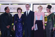 (L-R) Actors Vithaya Pansringarm, Kristin Scott Thomas, producer Lene Borglum, director Nicolas Winding Refn, his wife Liv Corfixen and actors Rhatha Phongam attend the 'Only God Forgives' Premiere during the 66th Annual Cannes Film Festival at Palais des Festivals on May 22, 2013 in Cannes, France.