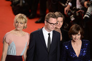 (R-L)  Kristin Scott Thomas, director Nicolas Winding Refn and is wife Liv Corfixen attend the 'Only God Forgives' Premiere during the 66th Annual Cannes Film Festival at Palais des Festivals on May 22, 2013 in Cannes, France.