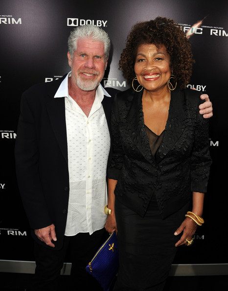 Ron Perlman with his wife, Opal during Pacific Rim premiere in LA