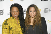 "Kamilah Forbes and Tracie Thoms attend Opening Act's 13th Annual Benefit Play Reading ""In Our Own Words"" at New World Stages on April 02, 2019 in New York City."
