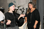 (L-R) Julie Newmar and Kimberly McDonald attend the Opening Celebration Of Kimberly McDonald Los Angeles on January 10, 2013 in West Hollywood, California.