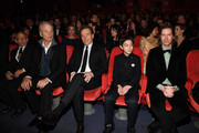 (L-R) Bob Balaban, Bill Murray, Bryan Cranston, Koyu Rankin and Wes Anderson attend the Opening Ceremony & 'Isle of Dogs' premiere during the 68th Berlinale International Film Festival Berlin at Berlinale Palace on February 15, 2018 in Berlin, Germany.