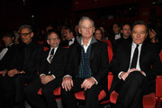(R-L) Bryan Cranston, Bill Murray, Bob Balaban, Jeff Goldblum and Yojiro Noda are seen at the Opening Ceremony & 'Isle of Dogs' premiere during the 68th Berlinale International Film Festival Berlin at Berlinale Palace on February 15, 2018 in Berlin, Germany.