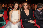 """(L-R) Margaret Qualley and Sigourney Weaver at the opening ceremony and """"My Salinger Year"""" premiere during the 70th Berlinale International Film Festival Berlin at Berlinale Palace on February 20, 2020 in Berlin, Germany."""