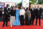 (L-R) Official jury members Mahamat-Saleh Haroun, Ann Hui, Moran Atias, Pernilla August, Alin Tasciyan, David Chase and Roberto Minervini attend the Opening Ceremony and 'Birdman' premiere during the 71st Venice Film Festival on August 27, 2014 in Venice, Italy.