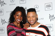 Actors Condola Rashad and Ryan Jamaal Swain attend Opening Ceremony September 2018 during New York Fashion Week at Le Poisson Rouge on September 9, 2018 in New York City.
