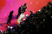 Cecile de France signs autographs for fans while attending the Opening Ceremony & 'Isle of Dogs' premiere during the 68th Berlinale International Film Festival Berlin at Berlinale Palace on February 15, 2018 in Berlin, Germany.