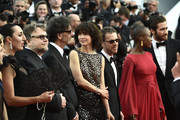 "(L-R) Jury members Xavier Dolan, Sienna Miller, Rossy de Palma, Guillermo del Toro, Joel Coen,  Sophie Marceau Ethan Coen, Rokia Traore and Jake Gyllenhaal attend the opening ceremony and premiere of ""La Tete Haute"" (""Standing Tall"") during the 68th annual Cannes Film Festival on May 13, 2015 in Cannes, France."