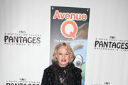 """Actress Tippi Hedren arrives at the opening night of """"Avenue Q"""" at the Pantages Theatre on March 1, 2011 in Hollywood, California."""