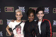 "Frankie Grande, Regina LeVert and Hale Leon attend Opening Night Of ""Rock Of Ages"" Hollywood At The Bourbon Room at The Bourbon Room on January 15, 2020 in Hollywood, California."