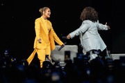 Oprah and Jennifer Lopez speaks onstage during 'Oprah's 2020 Vision: Your Life in Focus Tour' presented by WW (Weight Watchers Reimagined) at The Forum on February 29, 2020 in Inglewood, California.