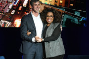Beto O'Rourke and Oprah Winfrey attend Oprah's SuperSoul Conversations at PlayStation Theater on February 05, 2019 in New York City.
