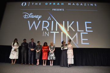 """Oprah Winfrey Ava DuVernay O, The Oprah Magazine Hosts Special NYC Screening Of """"A Wrinkle In Time"""" At Walter Reade Theater"""