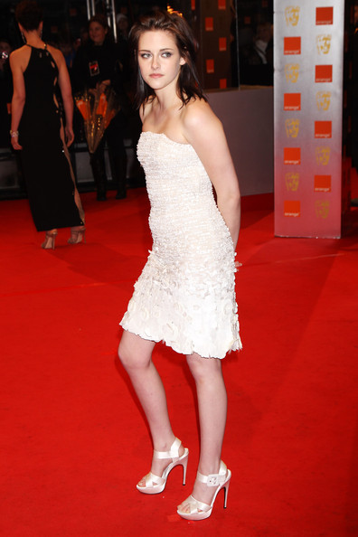 (UK TABLOID NEWSPAPERS OUT) Kristen Stewart arrives at the Orange British Academy Film Awards held at The Royal Opera House on February 21, 2010 in London, England.