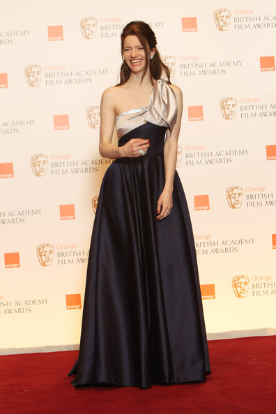 (UK TABLOID NEWSPAPERS OUT) Talulah Riley poses in front of the winners boards at the Orange British Academy Film Awards 2011 held at The Royal Opera House on February 13, 2011 in London, England.
