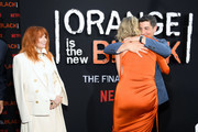 """Natasha Lyonne, Taylor Schilling and Jason Biggs attend the """"Orange Is The New Black"""" Final Season World Premiere at Alice Tully Hall, Lincoln Center on July 25, 2019 in New York City."""