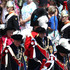 Prince Andrew Prince William Photos - Prince Andrew, Duke of York (Front-L), Prince Charles, Prince of Wales (Back-L) and Prince William, Duke of Cambridge (Back-R) march during the Order Of The Garter Service at Windsor Castle on June 18, 2018 in Windsor, England. The Order of the Garter is the senior and oldest British Order of Chivalry, founded by Edward III in 1348. The Garter ceremonial dates from 1948, when formal installation was revived by King George VI for the first time since 1805. - Order Of The Garter Service