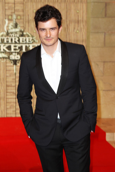 Orlando Bloom (UK TABLOID NEWSPAPERS OUT) Orlando Bloom attends the world premiere of 'The Three Musketeers in 3D' at The Vue Westfield on October 4, 2011 in London, United Kingdom.