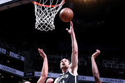 Tyler Zeller #44 of the Brooklyn Nets shoots the ball against the Orlando Magic on January 1, 2018 at Barclays Center in Brooklyn, New York. NOTE TO USER: User expressly acknowledges and agrees that, by downloading and or using this Photograph, user is consenting to the terms and conditions of the Getty Images License Agreement. Mandatory Copyright Notice: Copyright 2018 NBAE