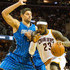 LeBron James Nikola Vucevic Photos - Nikola Vucevic #9 of the Orlando Magic tires to guard LeBron James #23 of the Cleveland Cavaliers during the first half at Quicken Loans Arena on November 24, 2014 in Cleveland, Ohio. NOTE TO USER: User expressly acknowledges and agrees that, by downloading and or using this photograph, User is consenting to the terms and conditions of the Getty Images License Agreement. - Orlando Magic v Cleveland Cavaliers