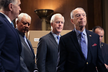 Orrin Hatch GOP Senate Judiciary Committee Members Hold News Conference On Brett Kavanaugh