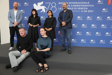 Orwa Nyrabia Sahraa Karimi International Panel On Afghanistan And The Situation Of Afghan Filmmakers And Artists Photocall - The 78th Venice International Film Festival