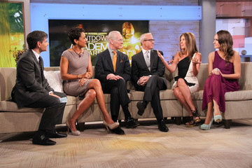"""Robin Roberts George Stephanopoulos """"Oscar's Red Carpet Live"""" Hosts Visit """"Good Morning America"""""""